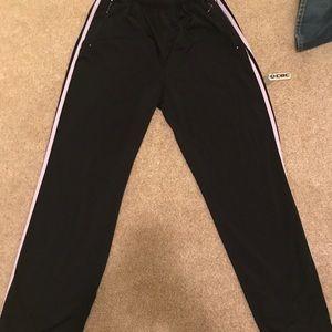Adidas black sweat pants with white stripes